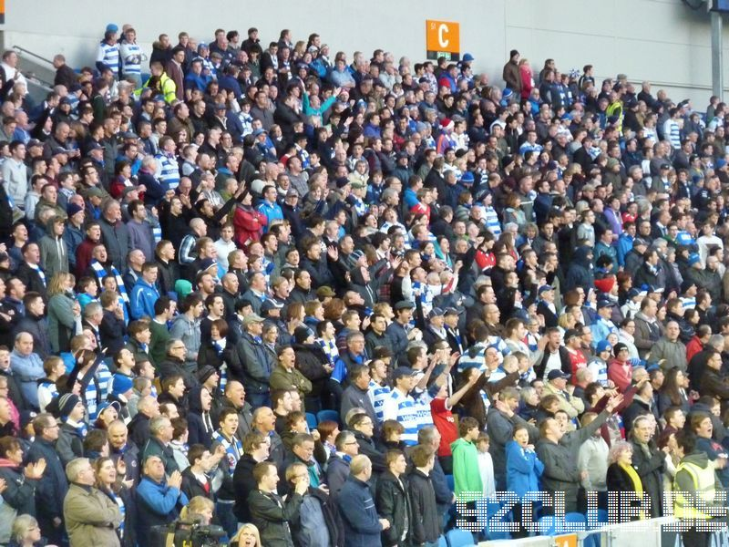 Brighton & Hove Albion - Reading FC, Amex Community Stadium, Championship, 10.04.2012 - Awayfans aus Reading