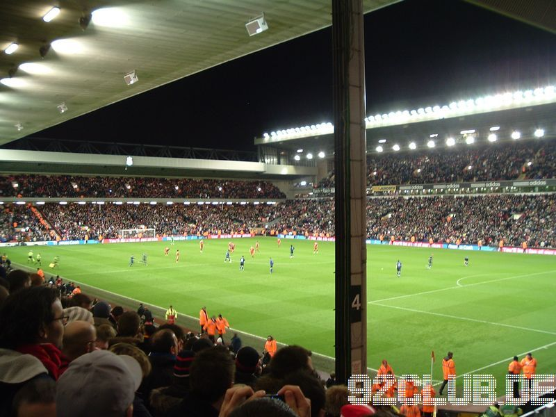 Liverpool FC - Sunderland AFC, Anfield, Premier League, 03.03.2009 - Anfield Road End und Kenny Dalglish Stand