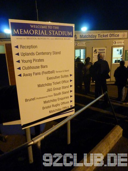 Memorial Stadium - Bristol Rovers,