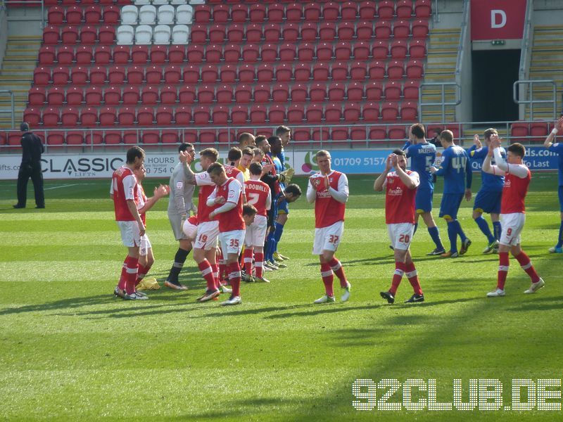 Rotherham United - AFC Wimbledon, New York Stadium, League Two, 29.03.2013 -