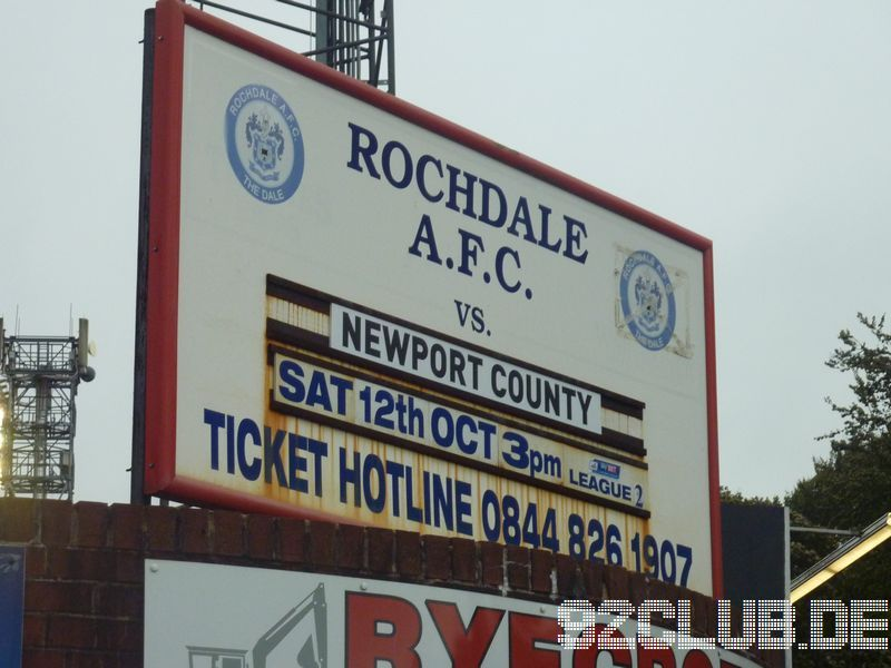 Rochdale AFC - Newport County, 83, League Two, 12.10.2013